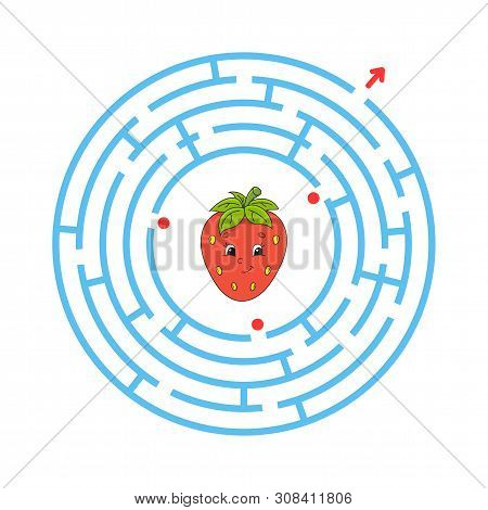 Maze. Game For Kids. Funny Labyrinth. Education Developing Worksheet. Activity Page. Puzzle For Chil