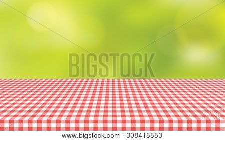 Picnic Table Cloth Background For Design Montage  Illustration
