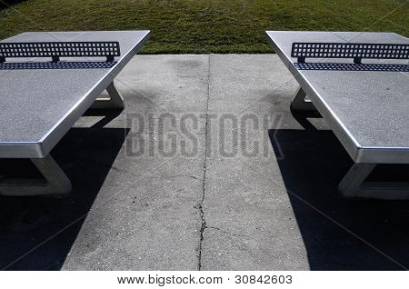 Two outside Ping-pong table