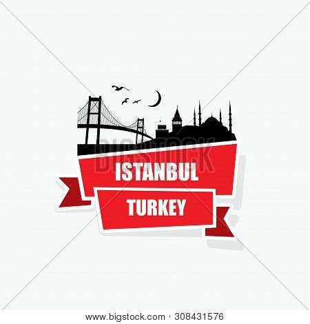 Istanbul Ribbon Banner - Vector Illustration - Vector