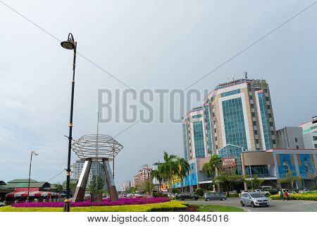 Kota Kinabalu Borneo - June 1 2019; Outstanding Stainless Steel Public Art, Sculpture On Vehicle Rou