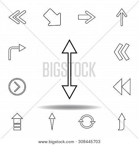 Two Way Arrow Icon. Thin Line Icons Set For Website Design And Development, App Development. Premium
