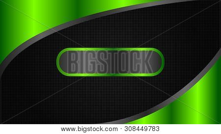 Abstract Black And Green Tech Banner Design, Minimal Style. Vector Web Header Background - Vector