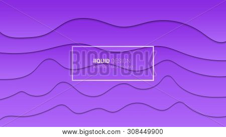 Abstract Liqiud Multi Layers 3d Design. Dynamic Concept Design Or Flowing Liquid Illustration For We