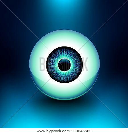 Vector 3D Glossy Eyeball