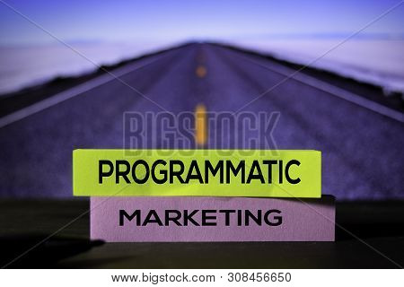 Programmatic Marketing On The Sticky Notes With Bokeh Background