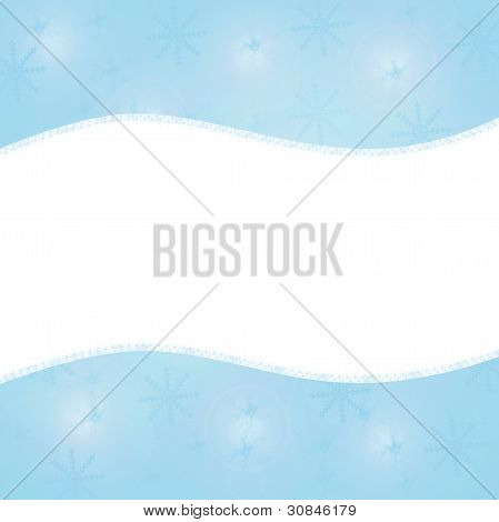Blue background with snowflakes. Your text