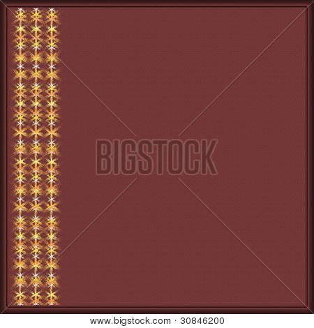 Burgundy background with a border for your text