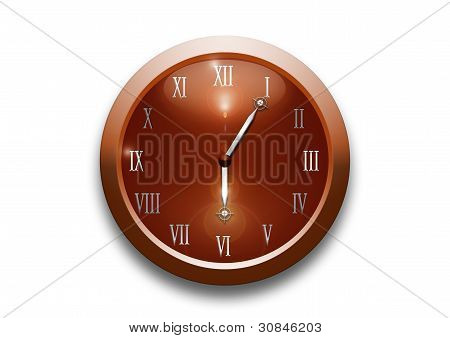 Clock isolated on a white background