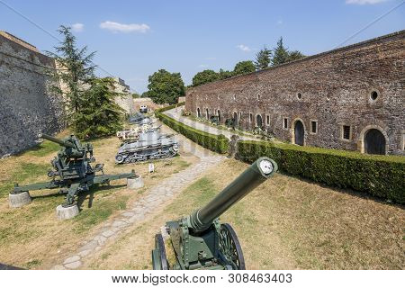 Belgrade, Serbia - July 31, 2017: Museum Of Armaments In The Open Air In The Belgrade Fortress, Serb