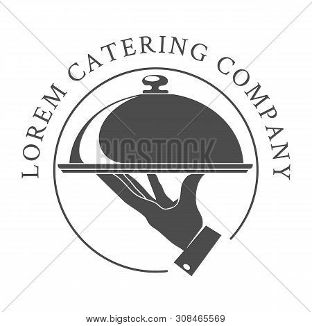 Catering Emblem. Cater Company Vector Logo, Catered Restaurant Logotype For Hot Outdoor Food Service