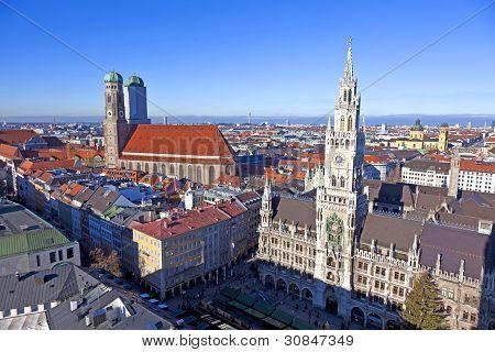 Aerial Of Munich In Beautiful Weather