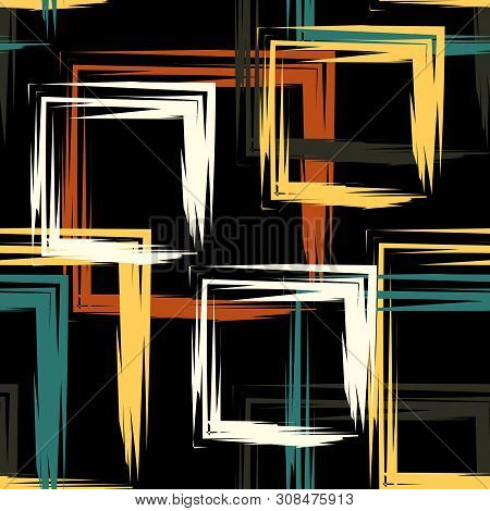 Squares In Baroque Color Abstraction Vector Illustration Eps 10