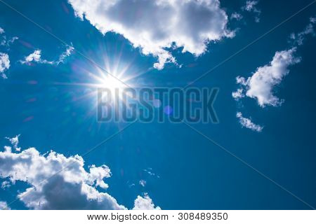 Nature Sun Light Radiation Of Lens Fare With Spectrum For Background, Backdrop, Template & Wallpaper