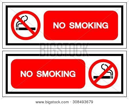 No Smoking Symbol Sign ,vector Illustration, Isolate On White Background Icon. Eps10