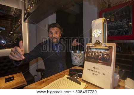 Restaurant Barman At Bar Taxi Interior