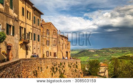 Pienza, A Town In The Province Of Siena, In The Val D'orcia In T