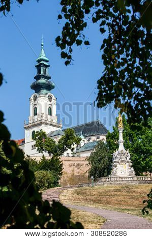 Nitra, Slovakia - August 05, 2015: St Emmeram Cathedral In Nitra Slovakia. Roman, Catholic Cathedral