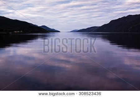 The Famous Loch Ness At Fort Augustus In Scotland, Uk.