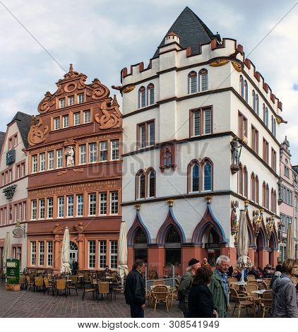 Trier, Germany- September 29: Market Square In Trier, Germany, On September 29, 2012. Trier Is The O