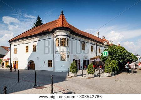Pezinok, Slovakia  - August 03. Pezinok - Old Town Hall In Pezinok City - Located About 20 Km From C