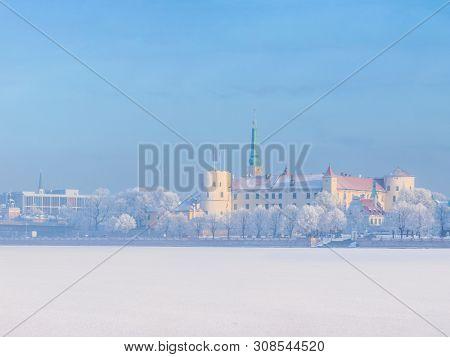 Winter skyline of Latvian capital city Riga Old town