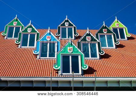 Architecture Of The Town Hall In Zaandam, Netherlands
