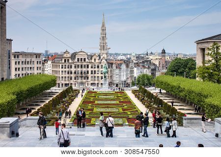 Brussels - May 19: City Skyline On May 19, 2013 In Brussels, Belgium. Brussels Is The Capital Of Bel
