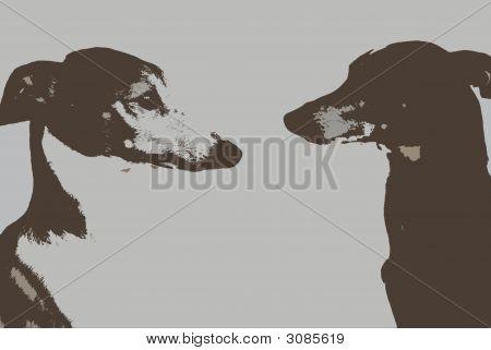 Greyhound Profile Cutouts
