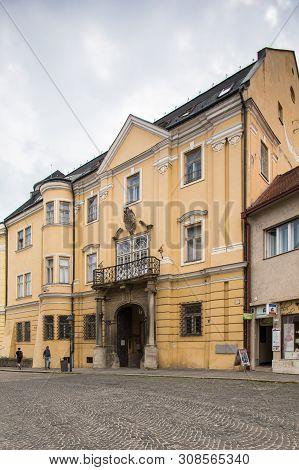 Trencin Museum. Slovakia. 02 August 2015. Building Of Trencin Museum.