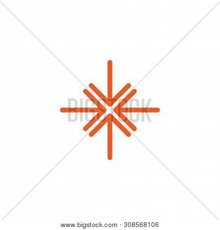 four bred thin arrows point to the center. Triple Collide Arrows icon. Merge Directions icon. poster