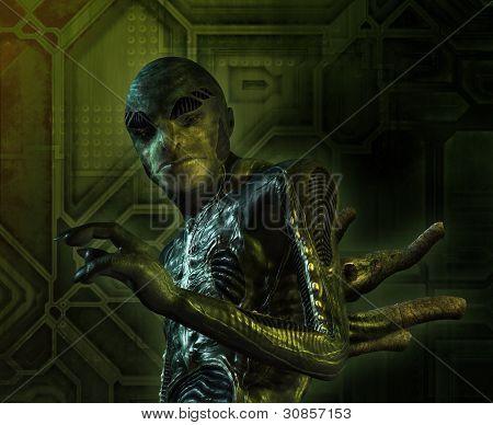 Alien Creature Portrait