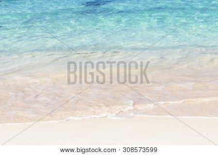 Travel Vacation Tropical Destination. Sandy Beach Background. Travel Vacations Destination. Travel C