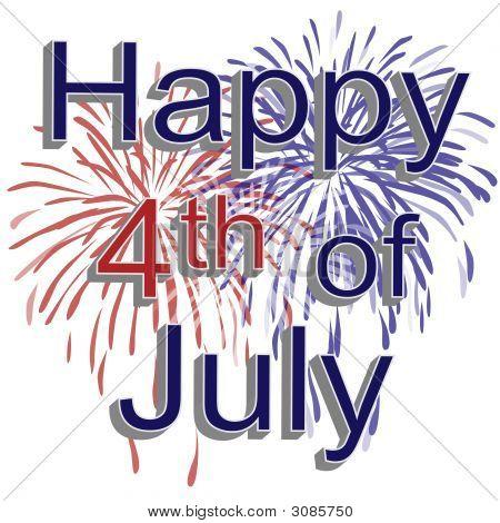 Feliz 4 de julio los fuegos artificiales