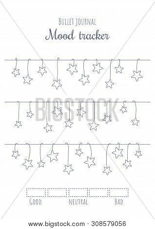 graphic about Bullet Journal Mood Tracker Printable named Printable Temper Vector Picture (No cost Demo) Bigstock