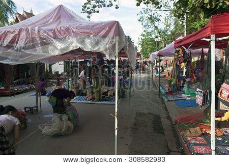 Luang Prabang, Laos - August 16: Traditional Ethnic Minority Market On August 16, 2012 In Luang Prab