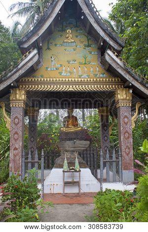 Wat Xieng Thong Temple Complex In Luang Prabang, Laos