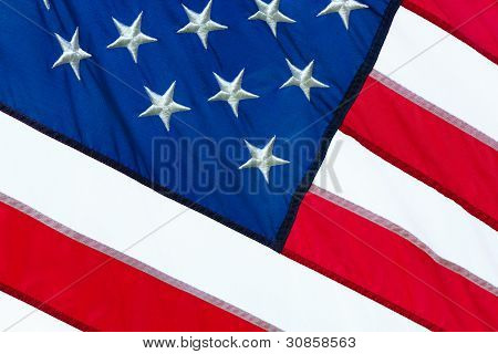 Cloth Flag Closeup
