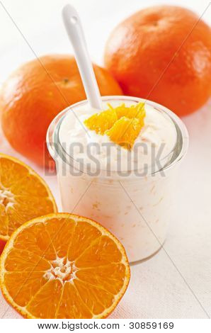 Orange Yoghurt with fresh fruits