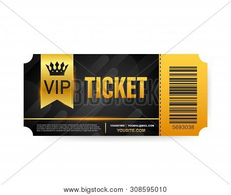 Vip Club Cards, Members Only Gold Ribbon, Label. Gold And Luxury, Membership Icon, Exclusive And Pri