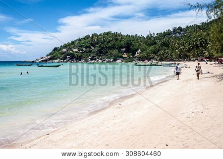 Ko Tao, Thailand - August 28: Beautiful Beach At Ko Tao, Thailand On August 28, 2013. Ko Tao Is Smal