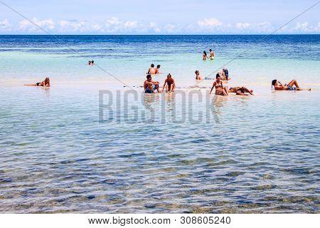 Koh Phangan, Thailand - September 1: People In A Water At Haad Yao Beach On Koh Phangan, Thailand On