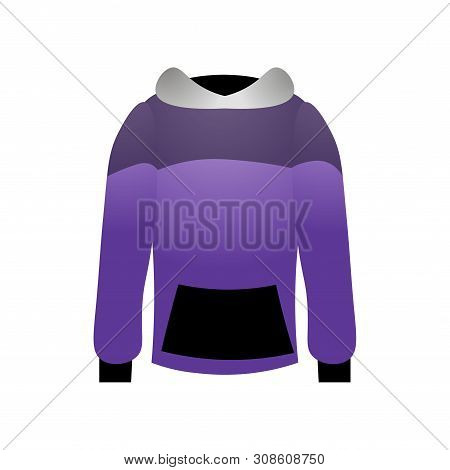 Sport Hoodie Colorful Violet Design With Black Grey Style