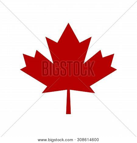 Maple Leaf Vector Icon. Maple Leaf Vector Illustration. Canada Vector Symbol Maple Leaf Clip Art. Re