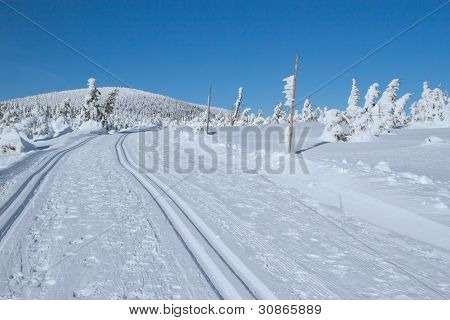 Winter Mountain Landscape Scenery (mountains Jeseniky, Czech Republic)