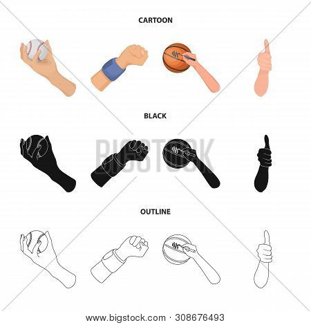 Isolated Object Of Animated And Thumb Icon. Set Of Animated And Gesture Vector Icon For Stock.