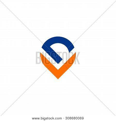 D V Letter Logo Template Illustration Design. Vector Eps 10.