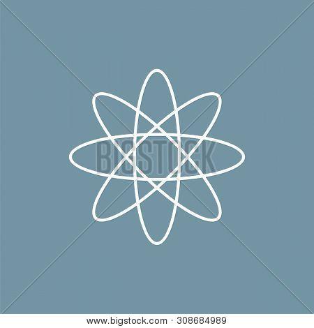 Neutron Chemical Icon Illustration Design. Vector Eps 10.