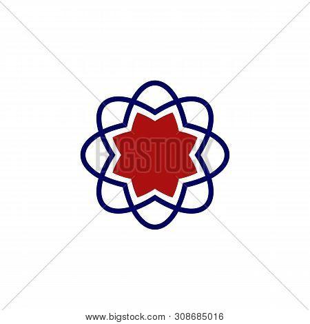 Neutron Flower Star Illustration Design. Vector Eps 10.