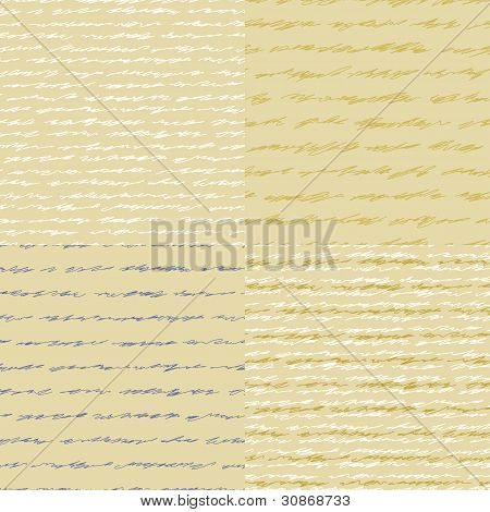 Old letter. Four seamless vector pattern